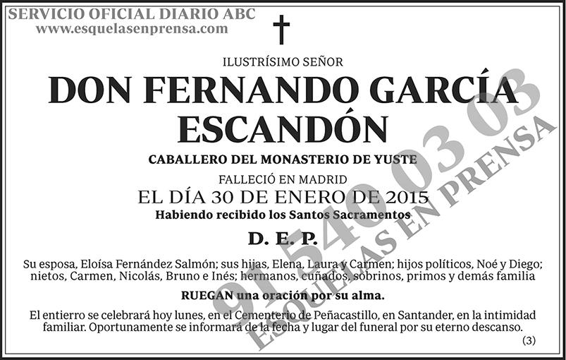 Fernando García Escandón